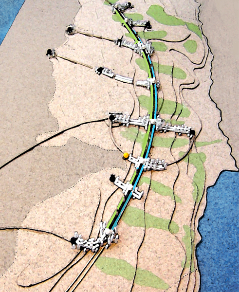 The Arc - a national transportation and infrastructure corridor for Palestine