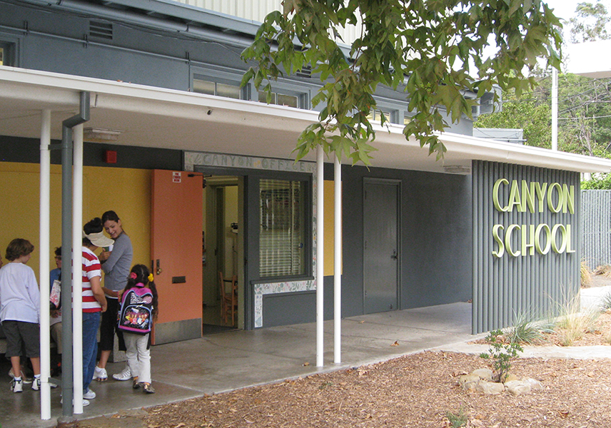 Canyon Charter School brightens its campus with color and imagery