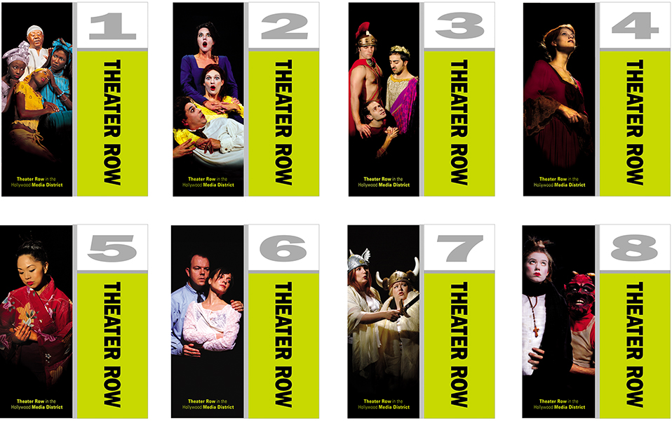 Theater Row Wayfinding Banners Small