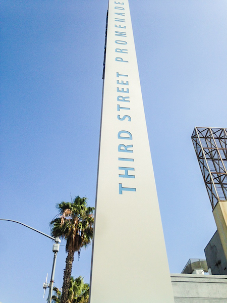 Pylon marker at Third Street and Wilshire Blvd.