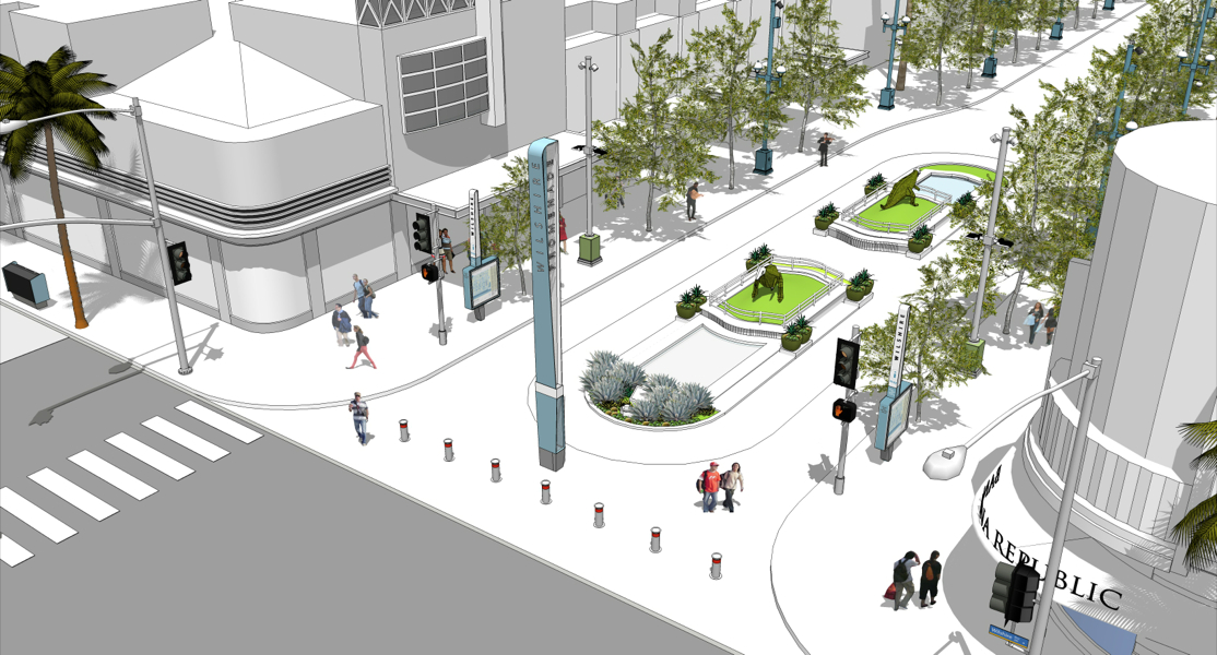 Pilo project concepts for Third and Wilshire at the Promenade