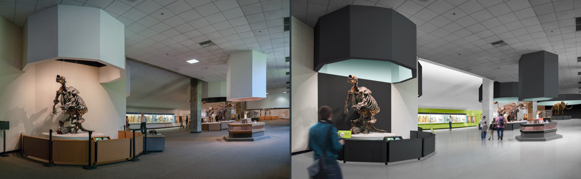 West Gallery — Before | after renovation (rendering)